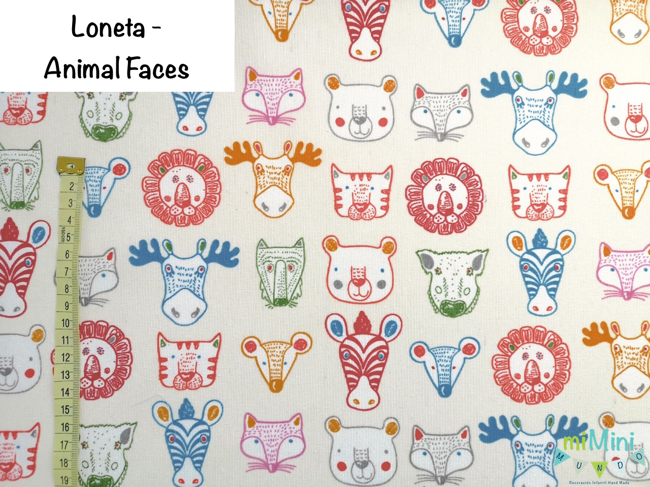 Loneta - Animal Faces